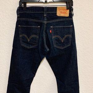 Levis 511 Dark Wash Blue Straight Leg Jeans